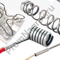 Спиральные тэны для нагрева узла подачи полимера в литьевых машинах и пресс-формах
