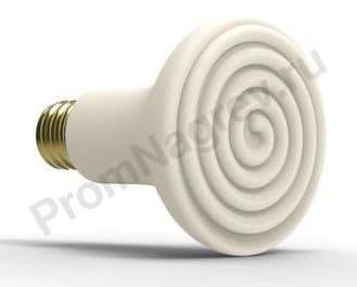 Керамические лампы инфракрасного излучения ESES 60 Вт и 100 Вт, ø 80x110 мм