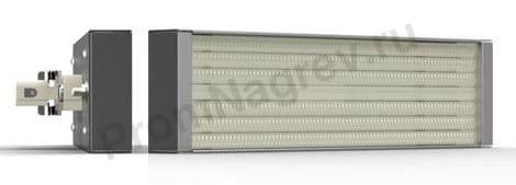 Инфракрасные кварцевые кассеты PFQE, штепсельное крепление, 150 - 1000 Вт, 247 x 62.5 мм