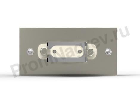 Кварцевый ИК нагреватель 123.5x62.5  мм, крепление штепсель