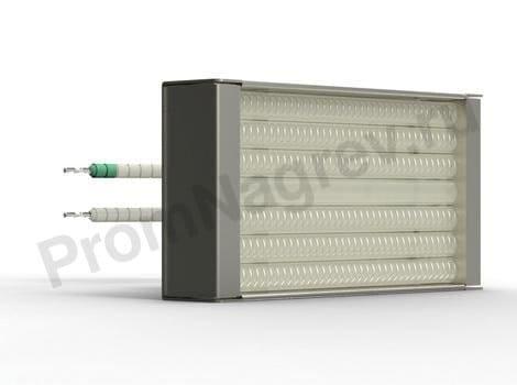 Кварцевый ИК нагреватель кассета PHQE 150 - 500 Вт 123.5x62.5  мм, крепление штепсель, встроенная термопара