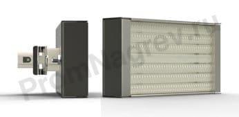 Кварцевый ИК нагреватель кассета PHQE 150 - 500 Вт 123.5x62.5  мм, крепление штепсель