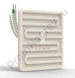 ИК нагревательный элемент керамический плоский SFSE 250 - 1000 Вт, 122x122x26 мм со встроенной термопарой