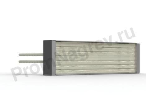 Инфракрасные кварцевые кассеты PFQE, штепсельное крепление, 150 - 1000 Вт, 247 x 62.5 мм, встроенная термопара