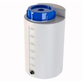 Контейнер для хранения и дозирования из полиэтилена (PE), 35 литров, бело-прозрачный