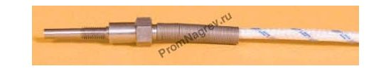 Термопара резьбовая диаметр 4 мм, термоэлемент тип J, провод 2000