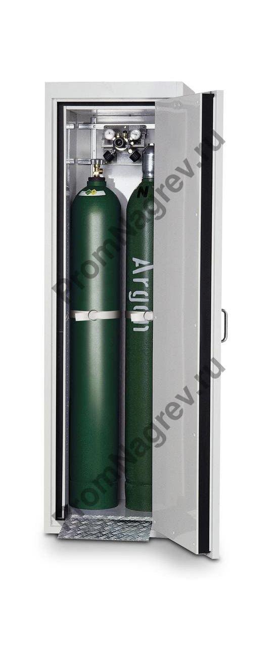 Огнестойкий металлический шкаф для хранения двух газовых баллонов G30.6, тип 30, шириной 600 мм, дверка справа