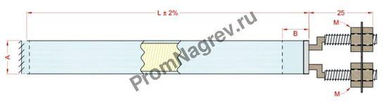 Отвод с резьбовыми шпильками  диаметром от 6,5 до 25 мм, тип T4