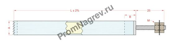 Выводс резьбовыми шпильками, внутреннее заземление диаметром от 6,5 до 25 мм, тип T6