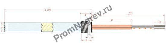 Отвод ниппель диаметром от 6,5 до 20 мм, тип T8