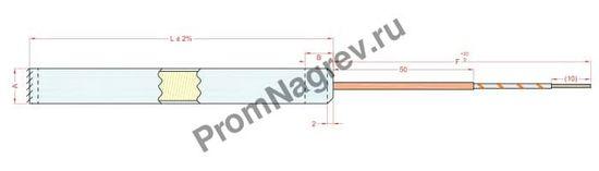 Отвод с проводом заземления диаметром от 6,5 до 25 мм, тип T5