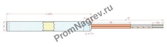 """Отвод стандартный с заделкой из термостойкой керамической пасты, обозначение """"T1"""""""