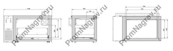 Шкаф огнеупорный с холодильным агрегатом и системой рециркуляции воздуха, схема утсрайства.
