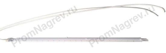 Галогеновая сдвоенная кварцевая трубка 23x11 мм, 4000 Вт/400В, общая длина 460 мм, провод с одной стороны, рефлектирующее покрытие