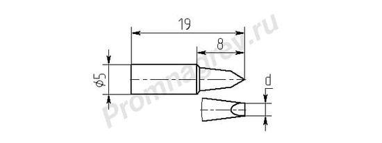 Износостойкие паяльные насадки MG8-DA для паяльника ПРК-90