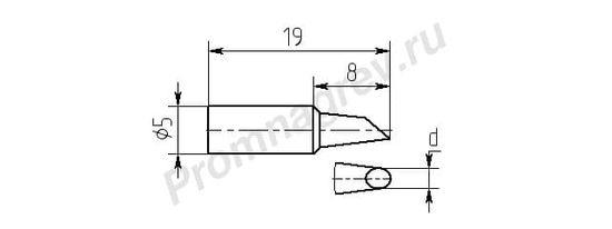 Износостойкие паяльные насадки MG8-DB для паяльника ПРК-90