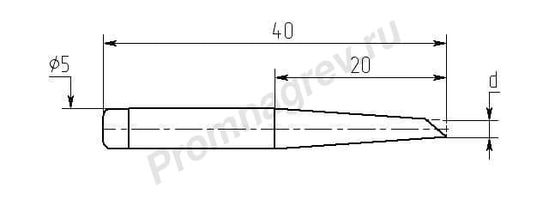 Износостойкие паяльные насадки MN20-DB для паяльника ПРЦ-90
