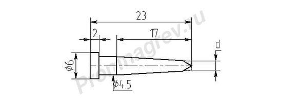 Износостойкие паяльные насадки MW17-DA для паяльника ПРТ-90