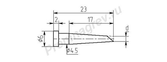 Износостойкие паяльные насадки MW17-DB для паяльника ПРТ-90