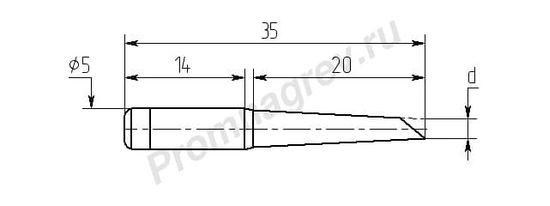 Паяльные насадки M20-DB с односторонним срезом износостойкие