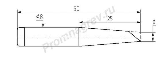 Паяльные насадки MC25-DB с односторонним срезом износостойкие
