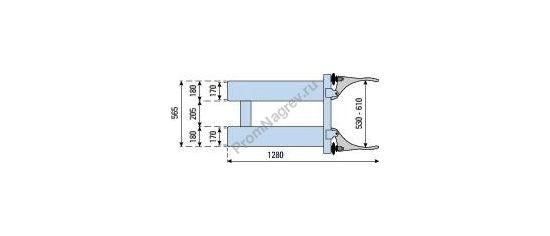 Зажим SK-S для автопогрузчика для транспортировки стальной или пластиковой бочки, габаритные размеры