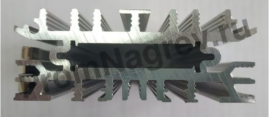 Конвекционный тонкий обогреватель для шкафов автоматики SL-SNT мощность 100 Вт, размер 65x23x150 мм, вид сверху