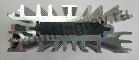 Конвекционный тонкий нагреватель для шкафов автоматики серии SL-SNT мощность 120 Вт, размер 65x23x175 мм, вид сверху