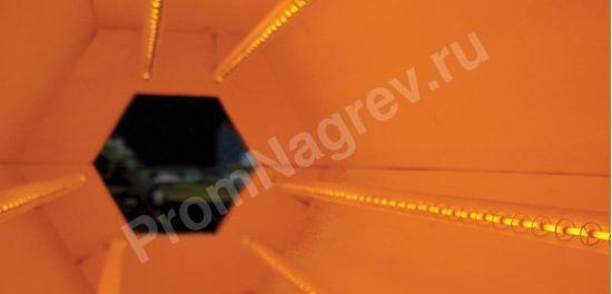 Инфракрасная туннельная сушка для синтетических материалов в работе