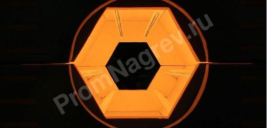 Инфракрасная туннельная сушка для синтетических материалов, вид изнутри