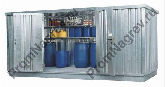 Оцинкованный контейнер для опасных веществ, на десять кв.м,  со входом