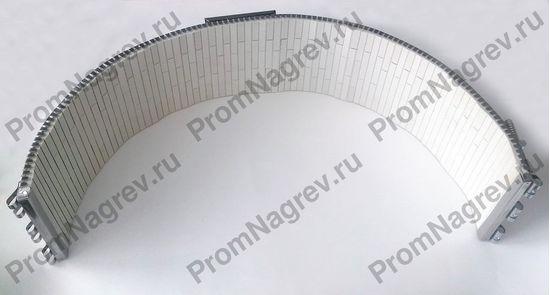 Нагреватель полухомутовый керамический посадочный диаметр 1/2 Ø 600  мм, мощность 6800 Вт, напряжение 380В