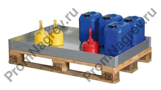 Поддон на шестьдесят литров, оцинкованная сталь, 766x1186x100.