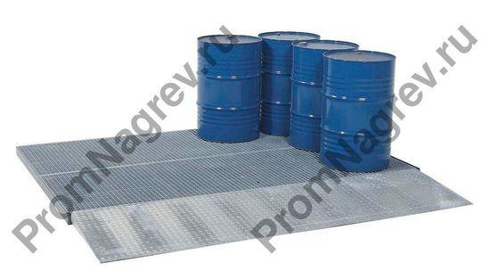 Небольшая сточная платформа квадратной формы для пола с колёсной нагрузкой 450 кг, 1000 x1000 x 123 мм.