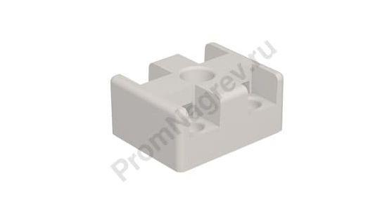 Двухполюсный изоляционный керамический блок без фитингов 41x32,5x19,5 мм