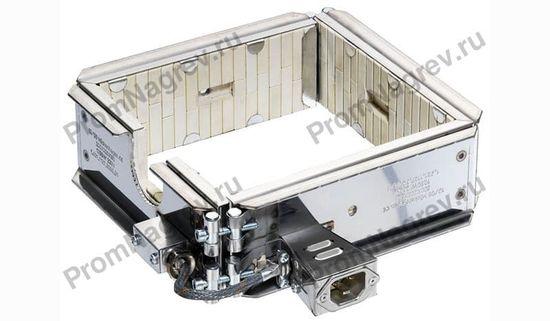 Керамический рамочный нагреватель из 4-х нагревательных элементов, 1250 Вт/230 В, 200 x 200 x 80 мм