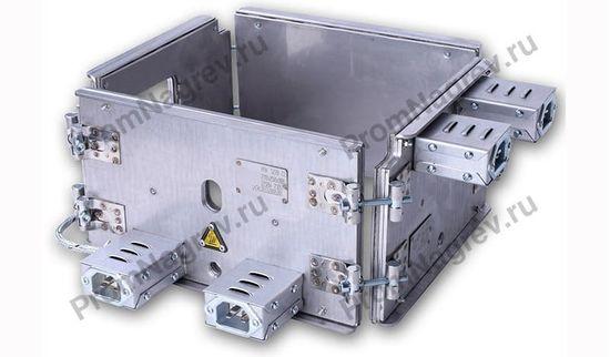 Миканитовый рамочный нагреватель из 4-х нагревательных элементов, 1250 Вт, 230 В, 270 x 250 x 160 мм, с отверстием под ТП и техническими отверстиями по чертежу
