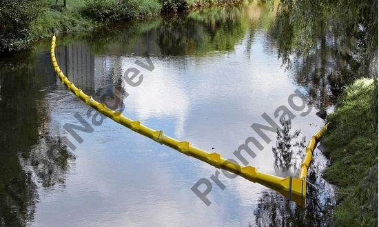 Пятнадцатиметровый барьер для рек и открытых вод, ширина 500 мм, свободный борт 20 см, глубина погружения 30 см.