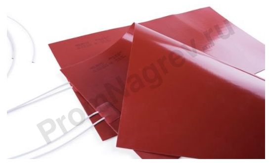 Плоская греющая пластина 100x150 мм, 100 Вт/240 В, провод 500 мм