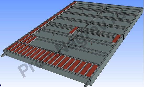 Инфракрасная панель 1560*2090 мм, 60 кВт/380 В, в сборе с блоком управления, с кожухом, 5 зон нагрева, модель