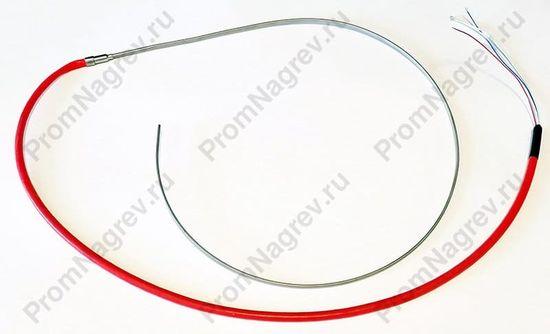 Спиральный нагреватель прямой, 620Вт/ 230В, общая длина в распрямленном виде 900 мм, со встроенной термопарой, производство Китай