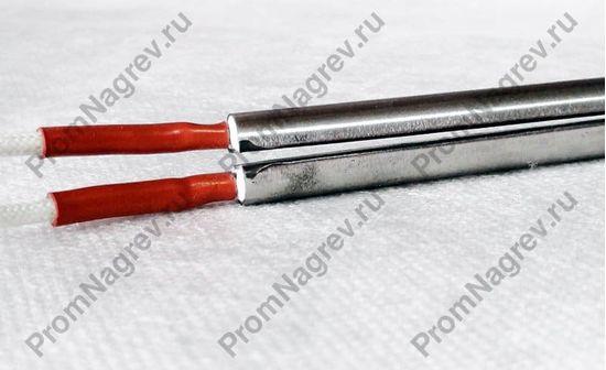 Разрезной ТЭН патронного типа 12,5 x 130 мм, 500 Вт/240 В, холодная верхушка, рукав из силиконовой резины