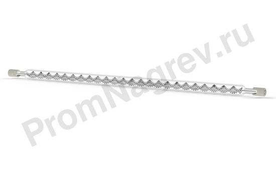 Галогеновый нагревательный элемент инфракрасный средневолновый QTM 1000 Вт, 10x277 мм