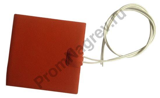 Гибкая греющая пластина 100x100 мм, 100 Вт/230 В, провод 500 мм