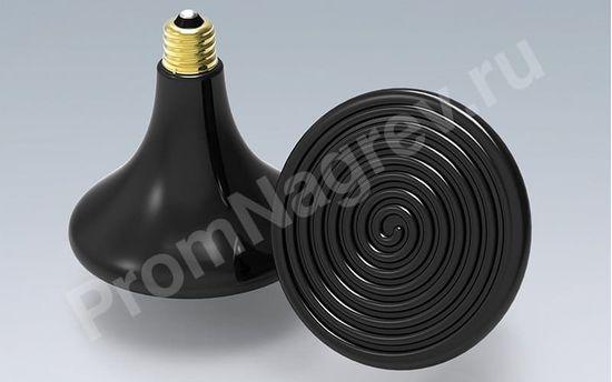 Лампа Эдисона черный цвет