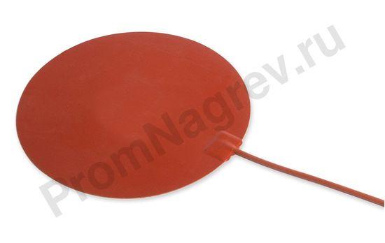 Силиконовый нагревательный элемент круглой формы, диаметр 100 мм, 8 Вт/12 В, провод 500 мм