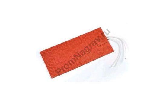 Плоский силиконоый нагреватель 100x200 мм, 250 Вт/230 В, провод 500 мм