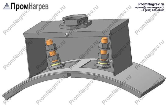 Шпильки закрытые коробом - подключение хомутового нагревателя