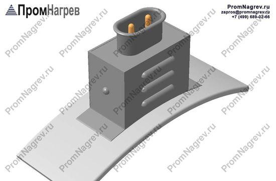 Вилка двухконтактная  на коробе радиально - подключение кольцевого нагревателя