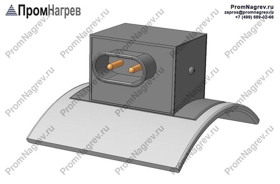 Вилка двухконтактная тангенциально - подключение хомутового нагревательного элемента